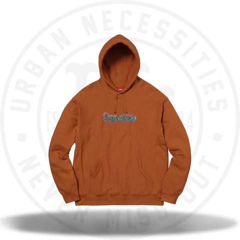 Supreme Gonz Logo Hooded Sweatshirt Copper-Urban Necessities