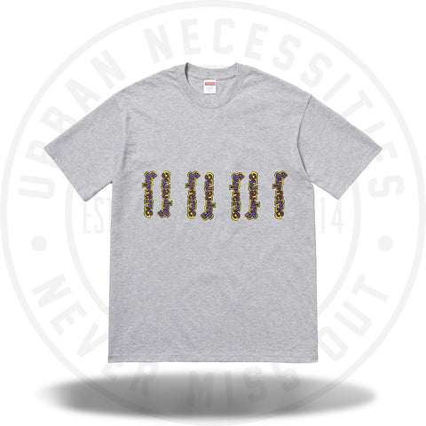 Supreme Gonz Logo Tee Heather Grey-Urban Necessities