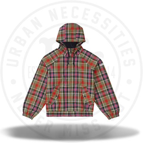 Supreme GORE-TEX Hooded Harrington Jacket Olive Plaid-Urban Necessities