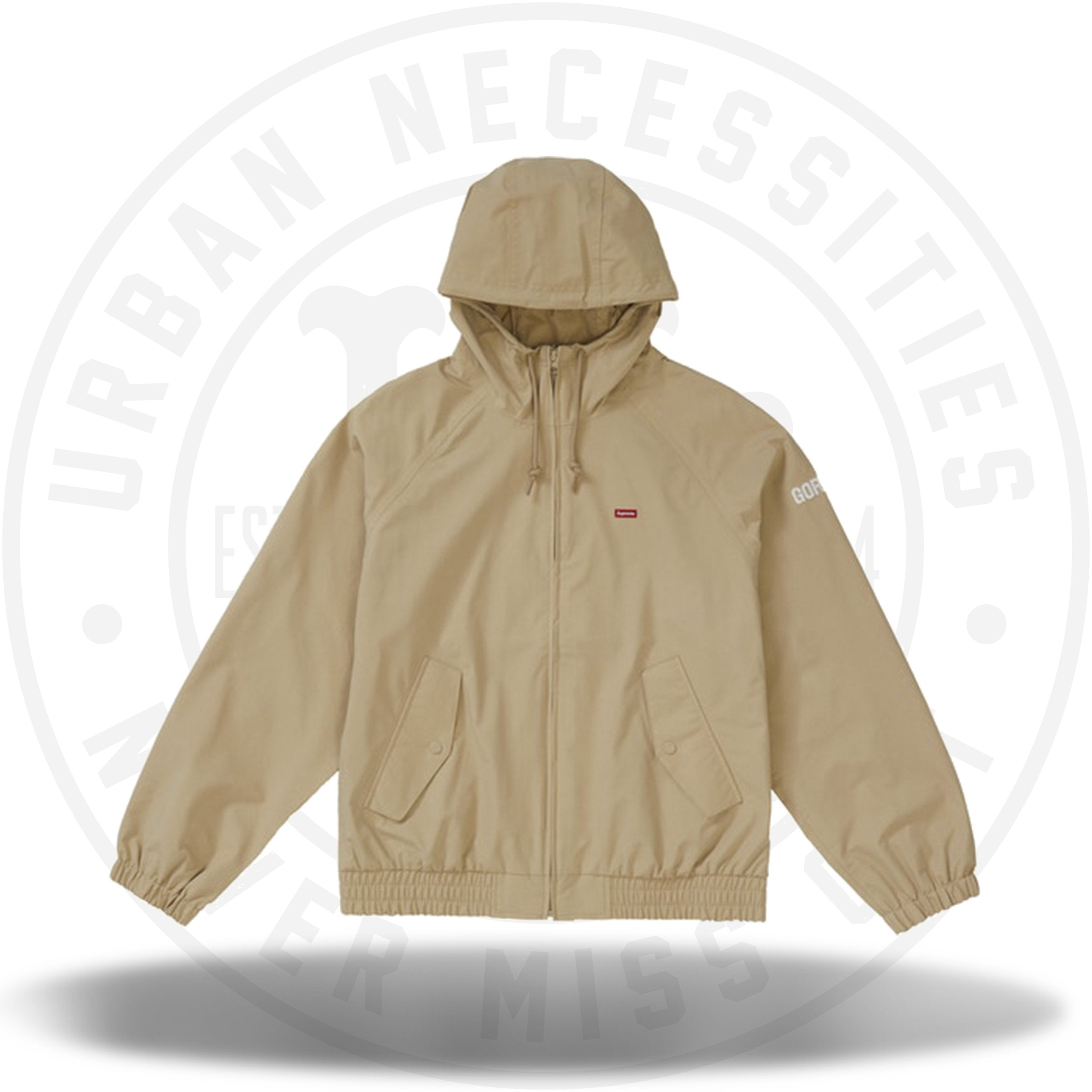 Supreme GORE-TEX Hooded Harrington Jacket Tan
