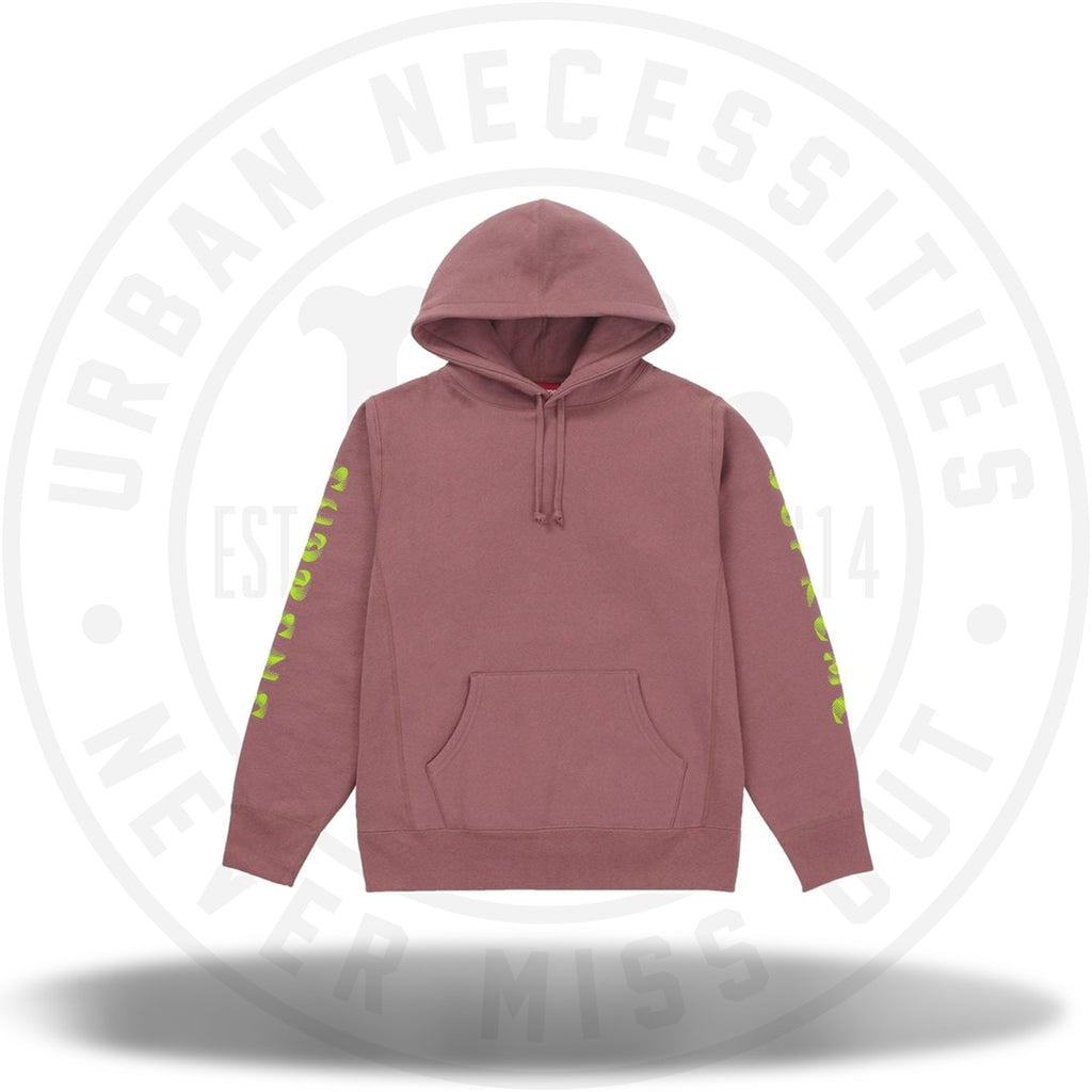 Supreme Gradient Sleeve Hooded Sweatshirt Dark Rose-Urban Necessities