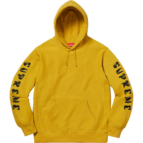 Supreme Gradient Sleeve Hooded Sweatshirt Mustard-Urban Necessities