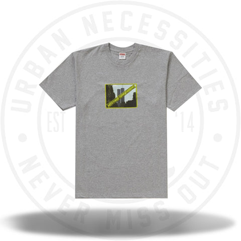 Supreme Greetings Tee Heather Grey-Urban Necessities