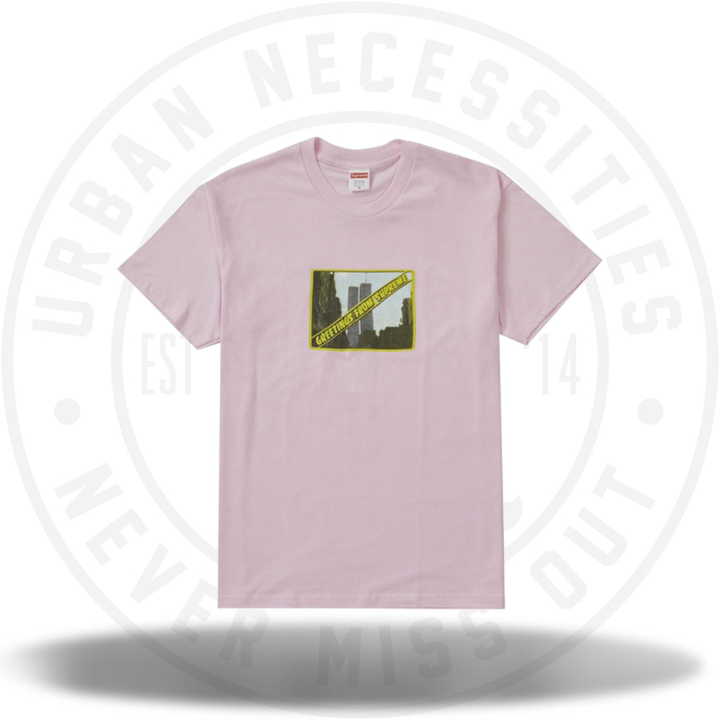 Supreme Greetings Tee Light Pink-Urban Necessities