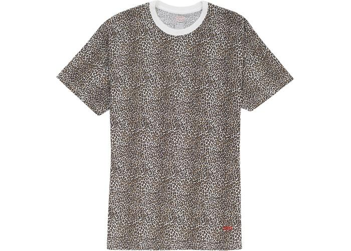 Supreme Hanes Leopard Tagless Tees (2 Pack) Leopard SS19-Urban Necessities