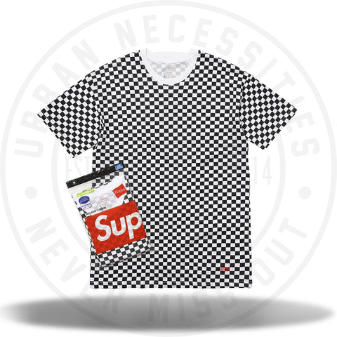 Supreme Hanes Tagless Tees (2 Pack) Checkered-Urban Necessities