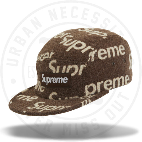 Supreme Harris Tweed Camp Cap Brown-Urban Necessities
