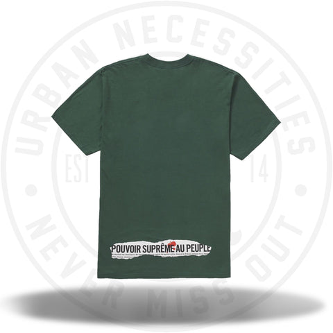 Supreme Headline Tee Dark Green-Urban Necessities