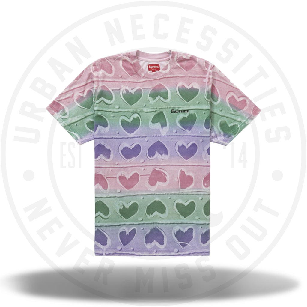 Supreme Hearts Dyed S/S Top Pink-Urban Necessities
