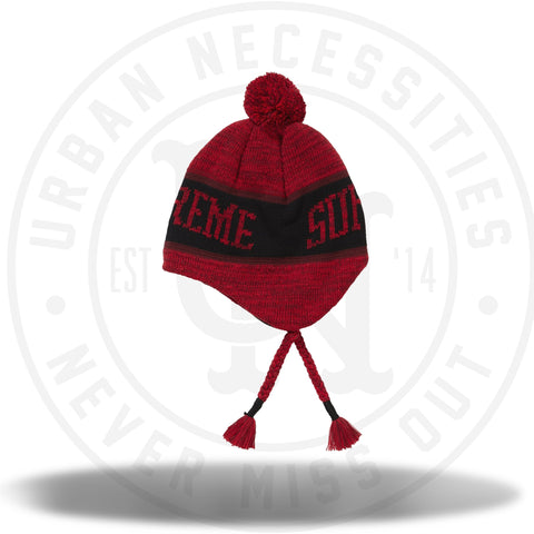 Supreme Heathered Earflip Beanie Red-Urban Necessities