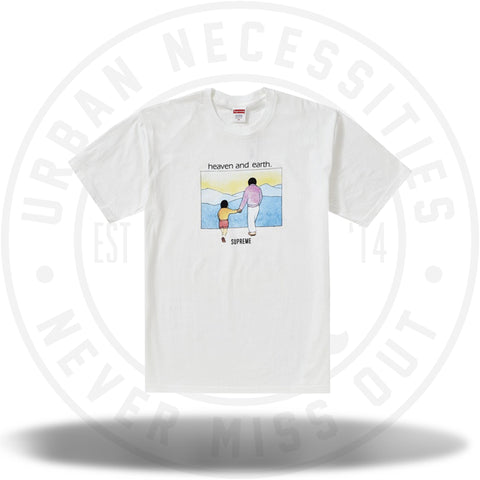 Supreme Heaven And Earth Tee White-Urban Necessities