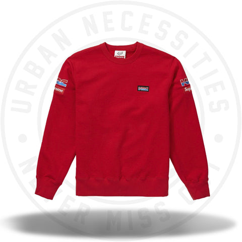 Supreme Honda Fox Racing Crewneck Red-Urban Necessities