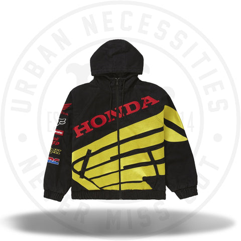 Supreme Honda Fox Racing Puffy Zip Up Jacket Black-Urban Necessities