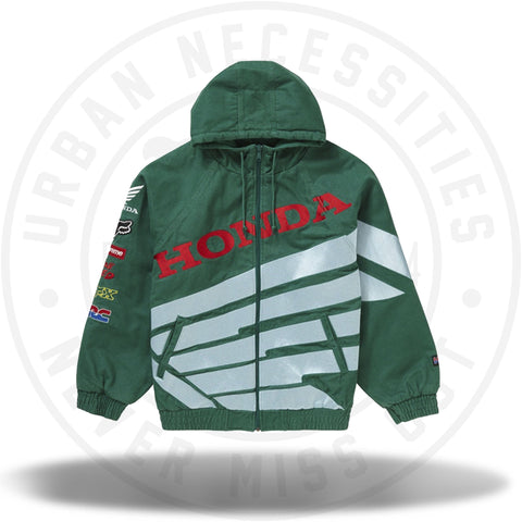 Supreme Honda Fox Racing Puffy Zip Up Jacket Dark Green-Urban Necessities