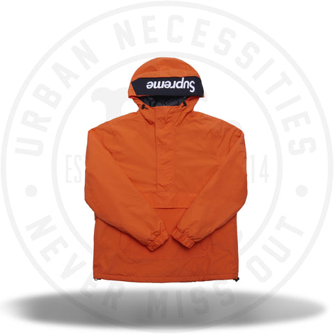 Supreme Hooded Logo Half Zip Pullover Orange-Urban Necessities