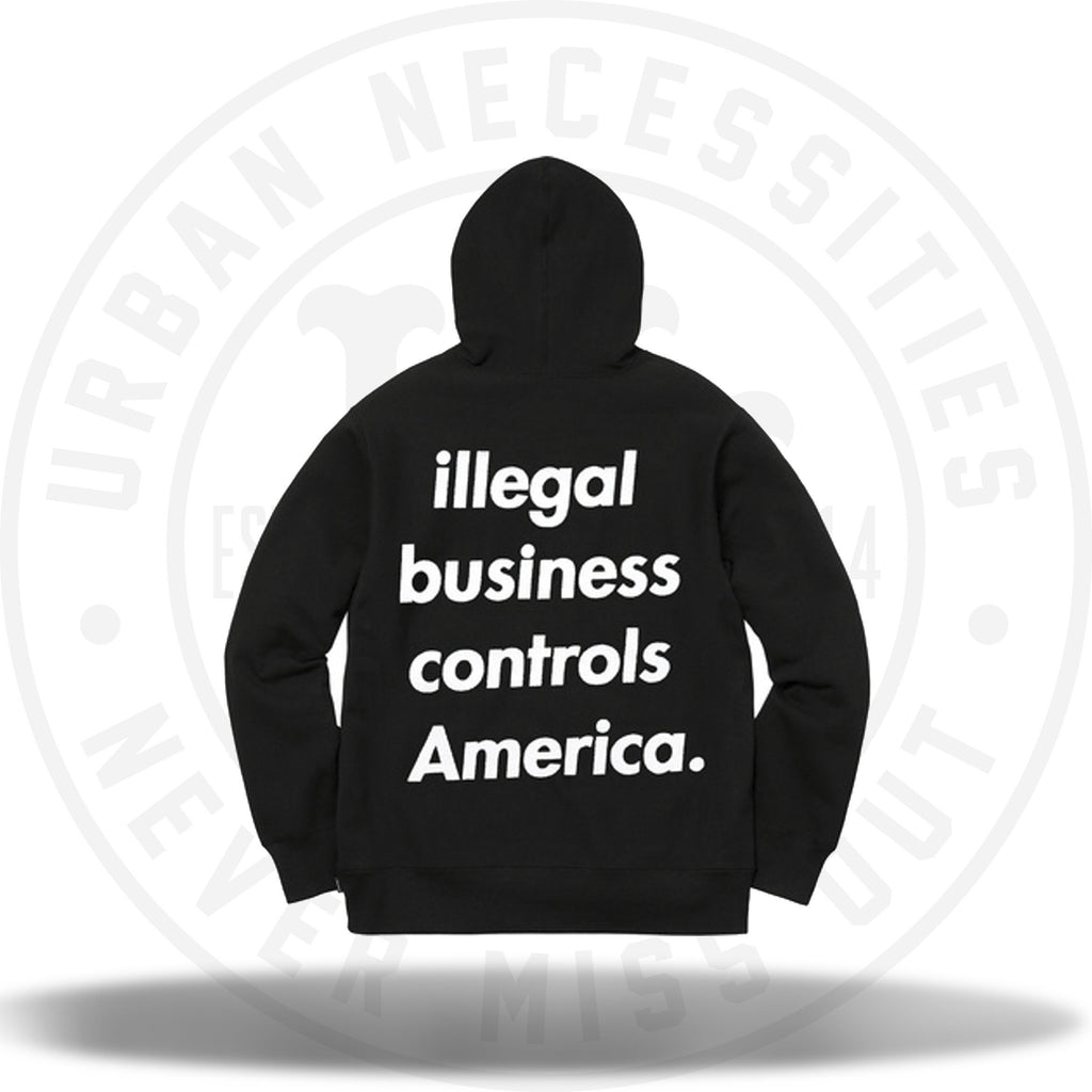 Supreme Illegal Business Hooded Sweatshirt Black-Urban Necessities