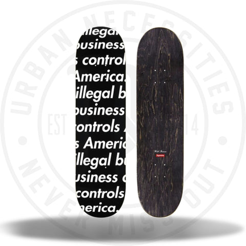 Supreme Illegal Business Skateboard Black-Urban Necessities