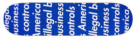 Supreme Illegal Business Skateboard Blue-Urban Necessities