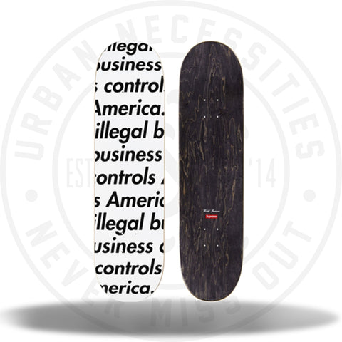 Supreme Illegal Business Skateboard White-Urban Necessities
