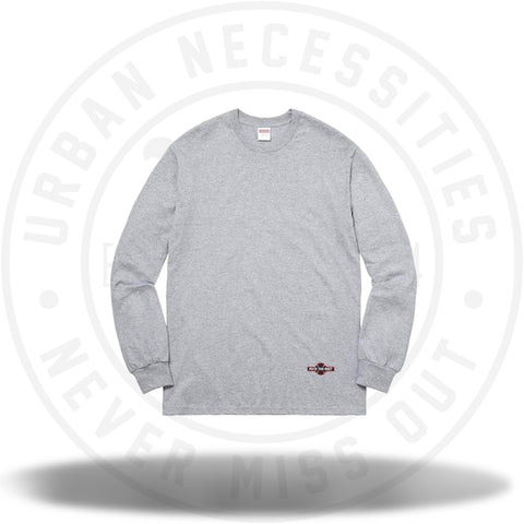 Supreme Independent Fuck The Rest L/S Tee Grey-Urban Necessities