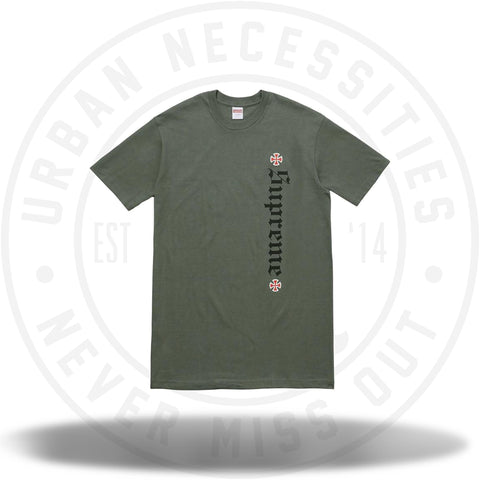 Supreme Independent Old English Tee Olive-Urban Necessities