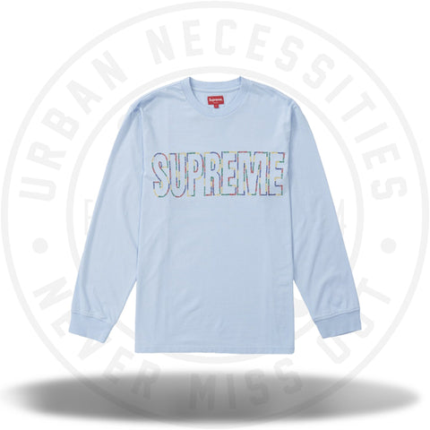 Supreme International L/S Tee Light Blue-Urban Necessities