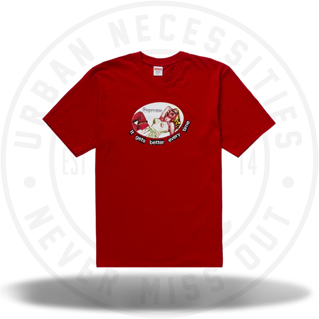Supreme It Gets Better Every Time Tee Red-Urban Necessities