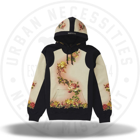 Supreme Jean Paul Gaultier Floral Print Hooded Sweatshirt Black-Urban Necessities
