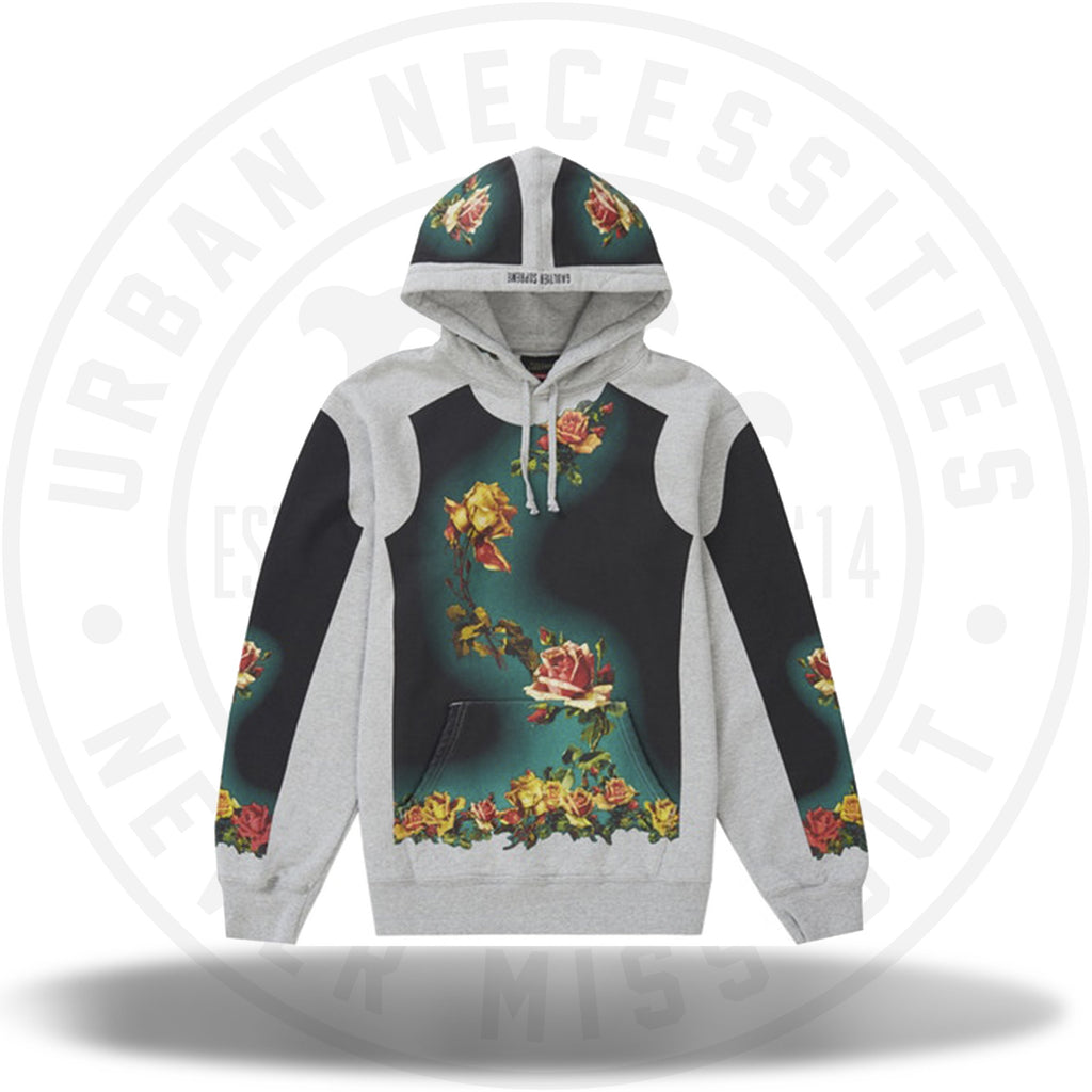 Supreme Jean Paul Gaultier Floral Print Hooded Sweatshirt Heather Grey-Urban Necessities