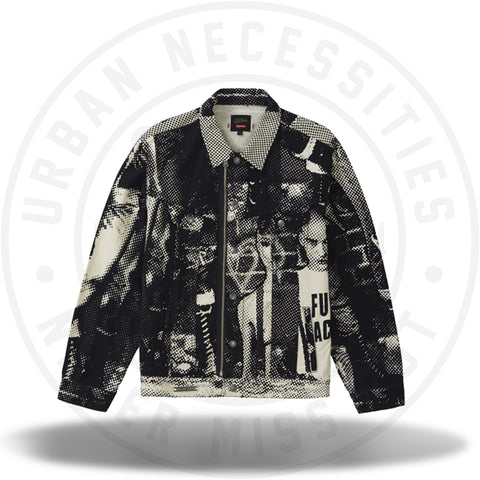 Supreme Jean Paul Gaultier Fuck Racism Trucker Jacket White-Urban Necessities