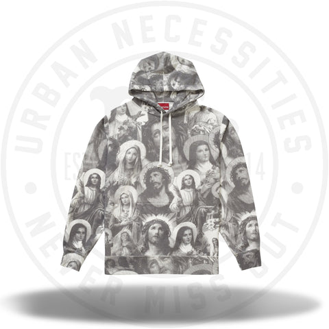 Supreme Jesus and Mary Hooded Sweatshirt Dark Grey-Urban Necessities