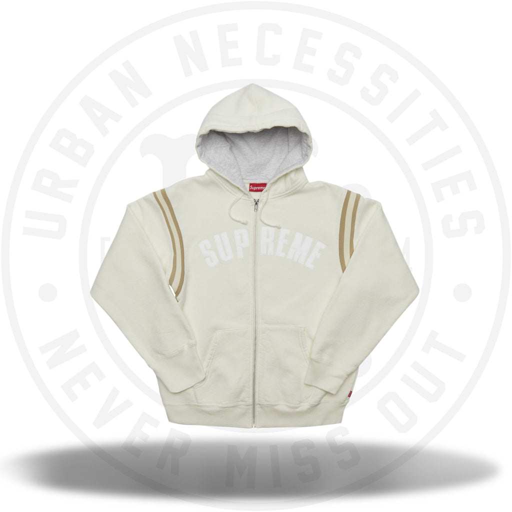 Supreme Jet Sleeve Zip Up Hooded Sweatshirt White-Urban Necessities
