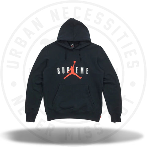 Supreme Jordan Hooded Pullover Black (PE Size)-Urban Necessities