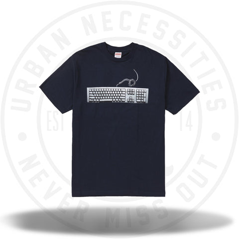 Supreme Keyboard Tee Navy-Urban Necessities