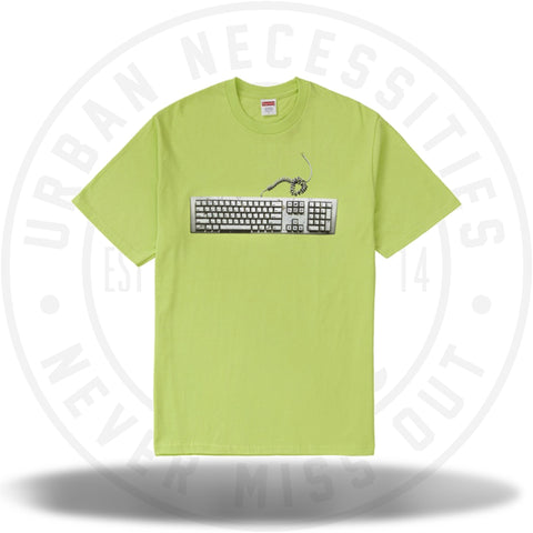 Supreme Keyboard Tee Neon Green-Urban Necessities