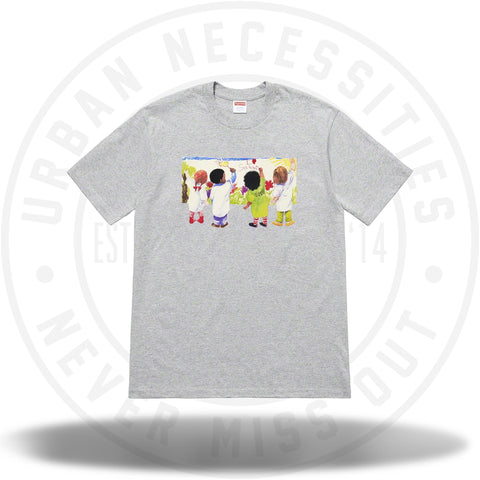Supreme Kids Tee Heather Grey SS19-Urban Necessities