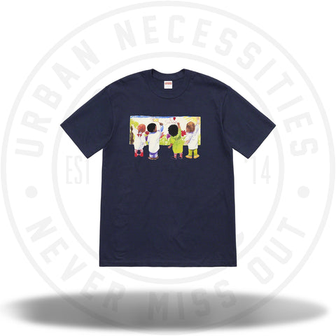 Supreme Kids Tee Navy SS19-Urban Necessities