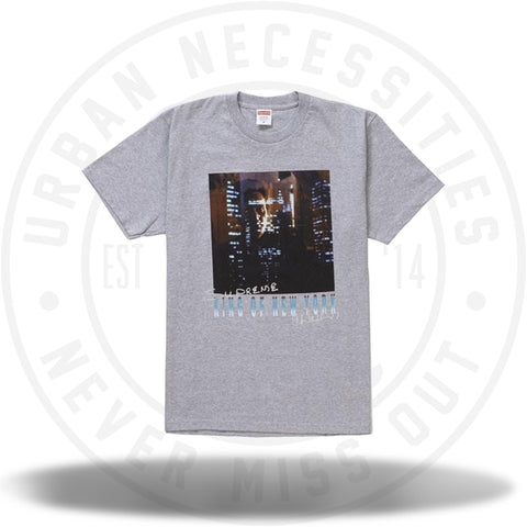 Supreme King of New York Tee Heather Grey SS19-Urban Necessities