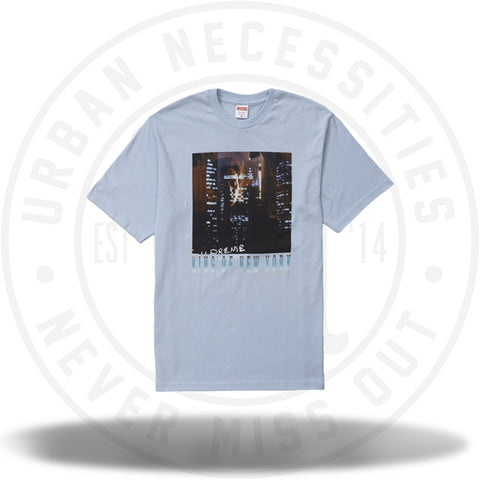 Supreme King of New York Tee Light Blue-Urban Necessities
