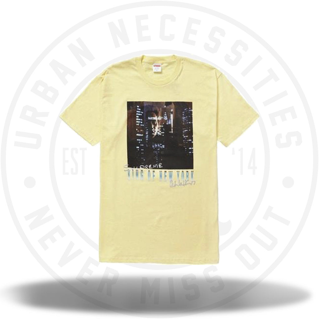 Supreme King of New York Tee Pale Yellow-Urban Necessities