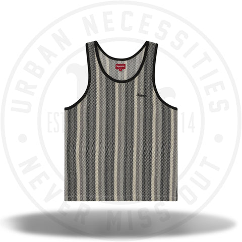 Supreme Knit Stripe Tank Top Black-Urban Necessities