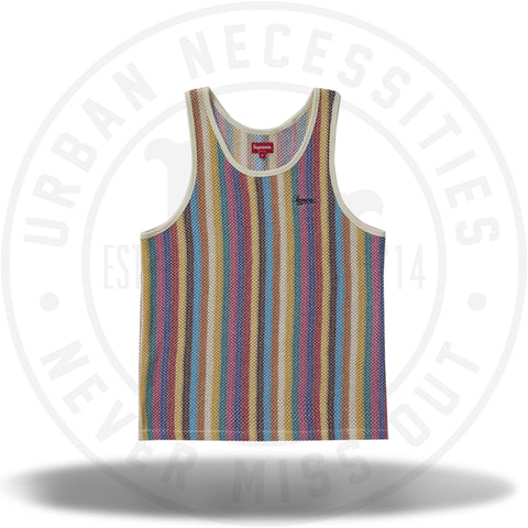 Supreme Knit Stripe Tank Top Multicolor-Urban Necessities