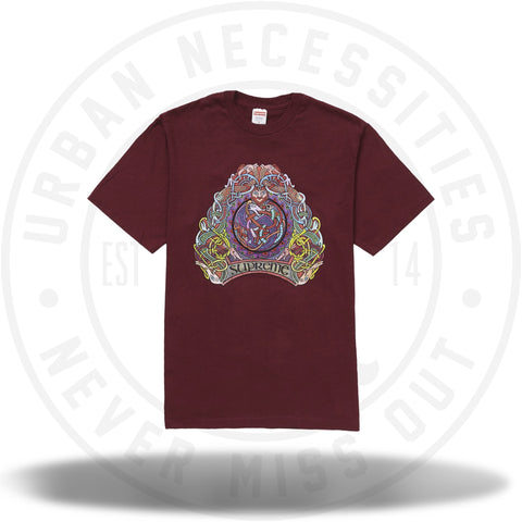 Supreme Knot Tee Burgundy SS19-Urban Necessities