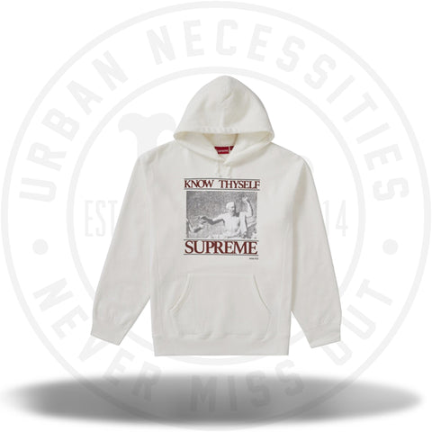 Supreme Know Thyself Hooded Sweatshirt White-Urban Necessities