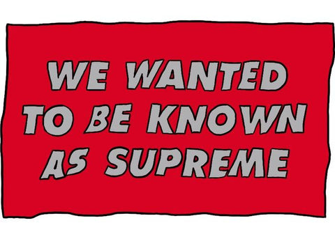 Supreme Known As Towel Red-Urban Necessities