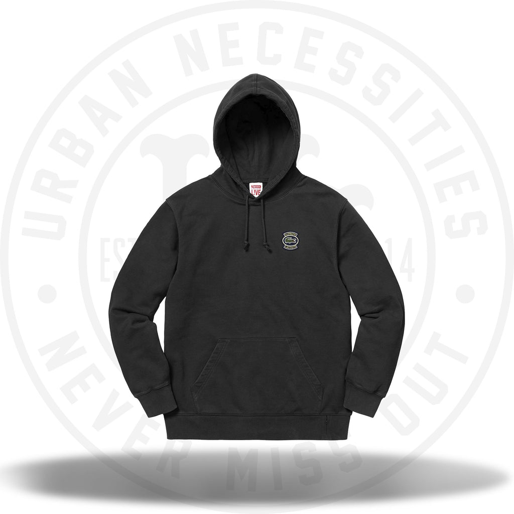 Supreme LACOSTE Hooded Sweatshirt Black-Urban Necessities