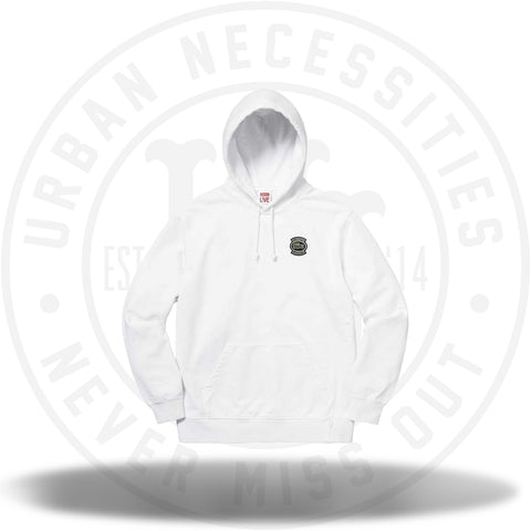 Supreme LACOSTE Hooded Sweatshirt White-Urban Necessities