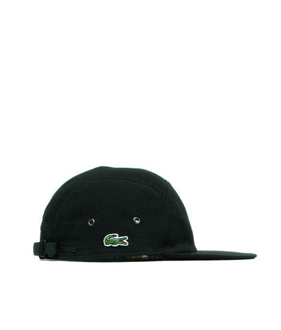 Supreme Lacoste Pique Camp Cap Hat Black-Urban Necessities