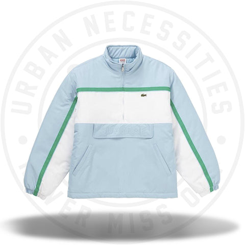 Supreme LACOSTE Puffy Half Zip Pullover Light Blue-Urban Necessities