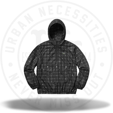 Supreme LACOSTE Reflective Grid Nylon Anorak Black-Urban Necessities